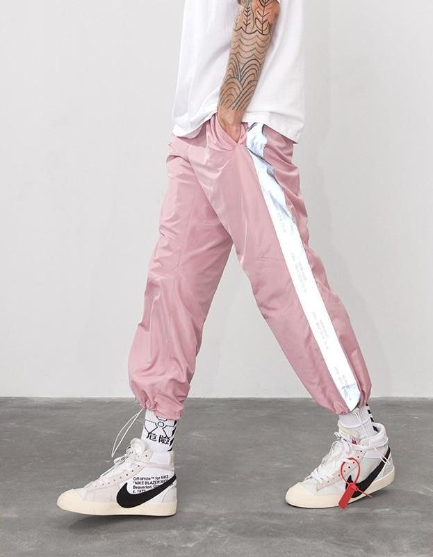 Vintage Side Reflect Light Tape jogger Sweatpant - simplifybox