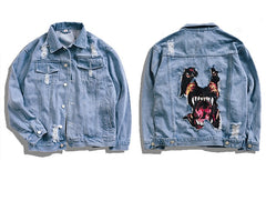 Men's Hip Hop Streetwear Denim Jeans Jackets - simplifybox