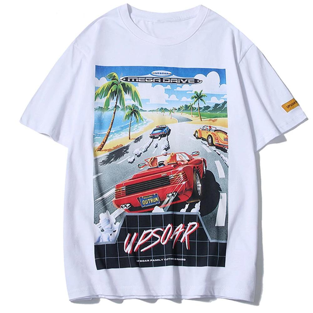 Upsoar Racing Car Printed T-Shirt - simplifybox