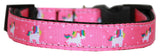 Pink Unicorn Nylon Dog Collar