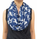 Navy Blue Labrador Dog Scarf