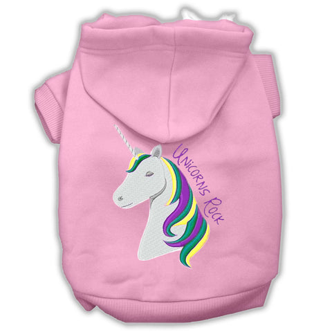 Unicorns Rock Embroidered Dog Hoodies