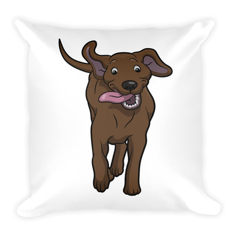 My Happy Labrador Square Pillow