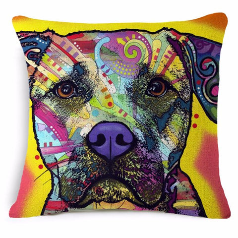 Watercolor Abstract Labrador Retriever Decorative Pillow Cover