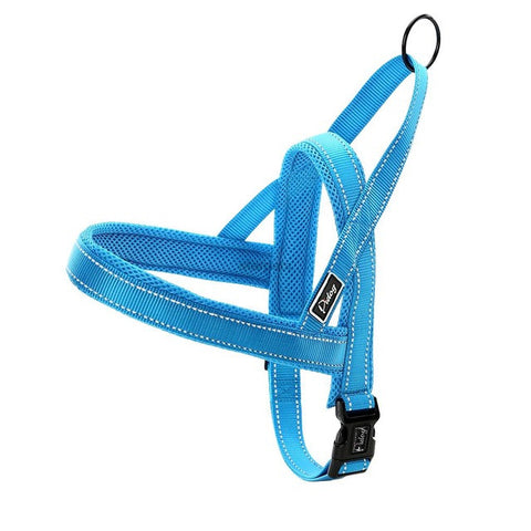 Dog Harness No Pull Happy Labrador Blue