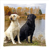 "Eco-friendly Personalized lovely Labrador Soft Satin 18""x18""case pillowcase with Zipper"