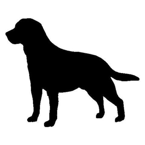Labrador Silhouette Car Sticker - Black & White