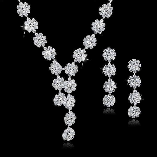 TOUCHEART Wedding Jewellery Set Crystal Bridal Jewelry Sets For Women Long Tassel Statement Necklace/Earrings Set SET150011