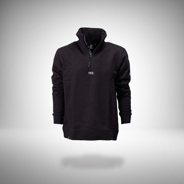 FNTS Half-Zip Polo Sweater (Black)