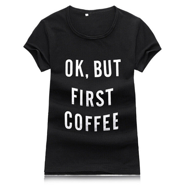 Women tshirt Street Fashion Slim Summer Basic t shirt Women 2016 New Letter Print Casual Slim Women Tops T-Shirts Plus Size