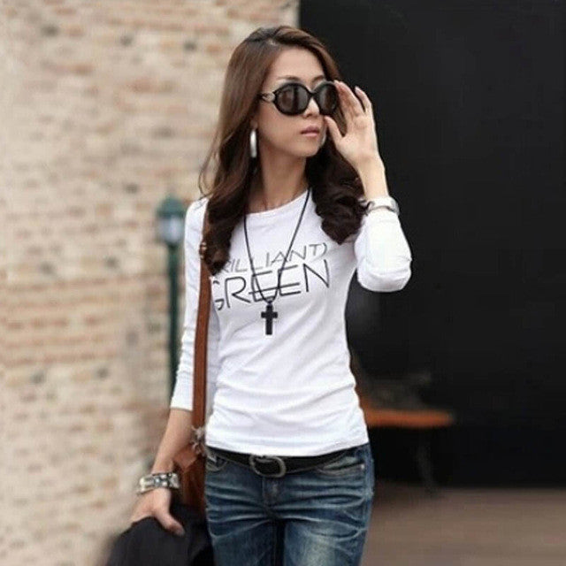 Women T Shirt Women Tops Long Sleeve O Neck Bottoming Party Clothing