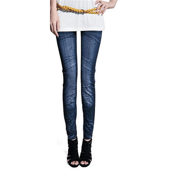 Slim Leggings Pants Trousers Women Lady Jeans Skinny Leggings Stretchy