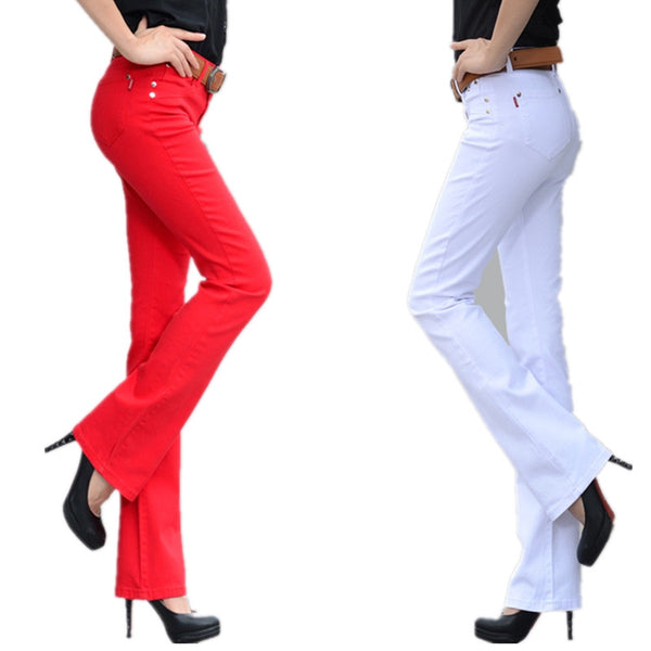 Women Jeans Long stretch Slim Fit jeans straight Plus size Fashion Casual