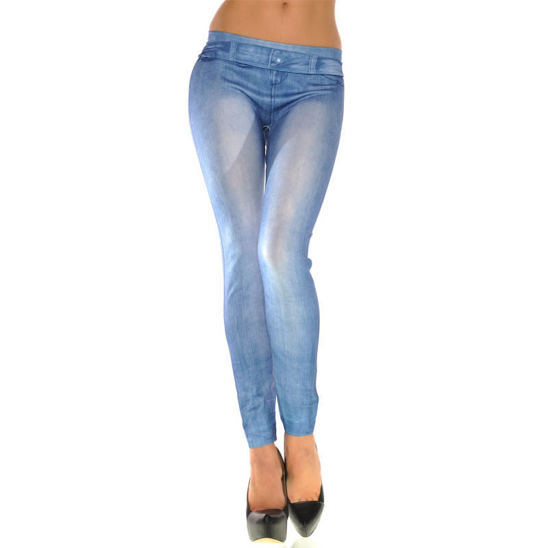 Women Leggings Skinny Solid Color Stretch
