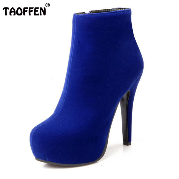Women Ankle Boots High Heel Platforms  size 31-45