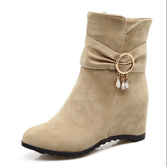 Women Zipper Ankle Boots size 34-43