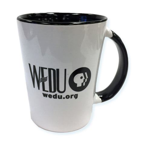 WEDU Black/White Coffee Mug