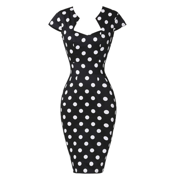 Sexy Slim Women Summer Dress 2016 Bodycon Pencil Dresses Cotton Plus Size 3XL Wiggle Vintage 50s Dress Vestido Office Work Dress - Monika's Dresses