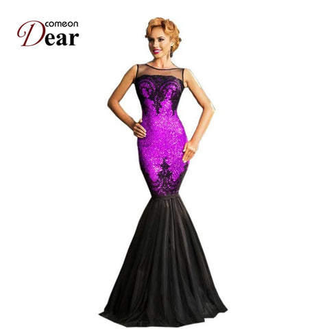 RJ80196 Comeondear Fashion Elegant Party Dress 5 Color Sequined Highly Recommended Women Formal Dresses New Mermaid Long Dress - Monika's Dresses