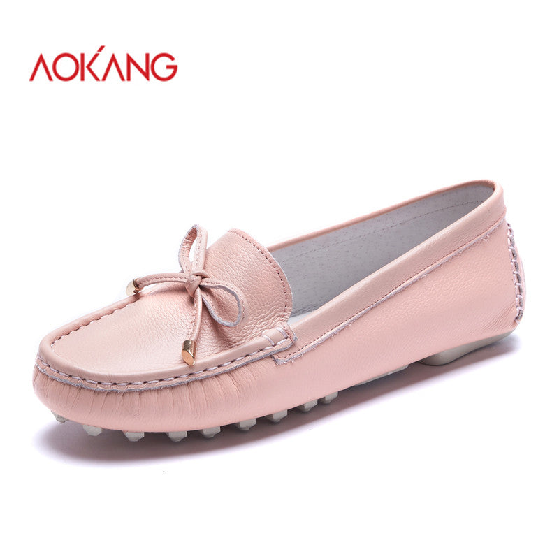 AOKANG 2016New Arrival Women Flats shoes Brand Women shoes Women