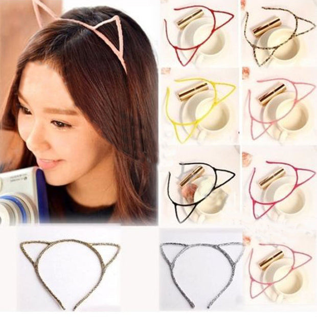 Women Lady Girls Cat Ears Headband Hair Sexy Head Band Self Photo Prop