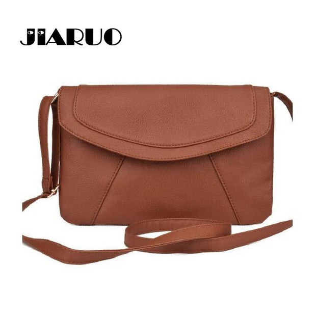 JIARUO PU leather Women Envelope Messenger bags Slim Crossbody