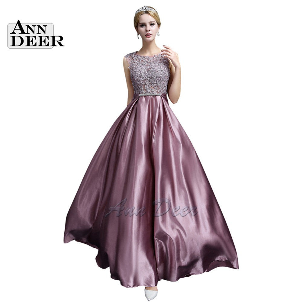 ANN DEER S306 Sexy See Through Plus Size Prom Dresses 2017 A-Line Floor-length Long Formal Dress Evening Gown Robe De Soiree - Monika's Dresses