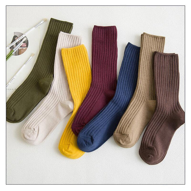 New Arrive Harajuku Retro Women Cotton Loose Socks for Autumn Winter