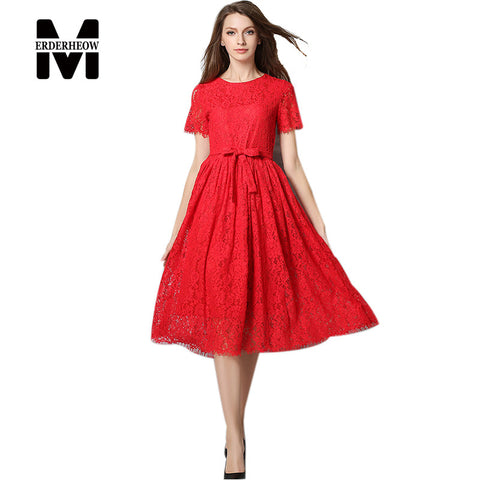 New Europe 2016 Spring Summer Women's Lace Openwork Long Dresses Bohemian Femme Casual Clothing Women Sexy Slim Party Dresses - Monika's Dresses