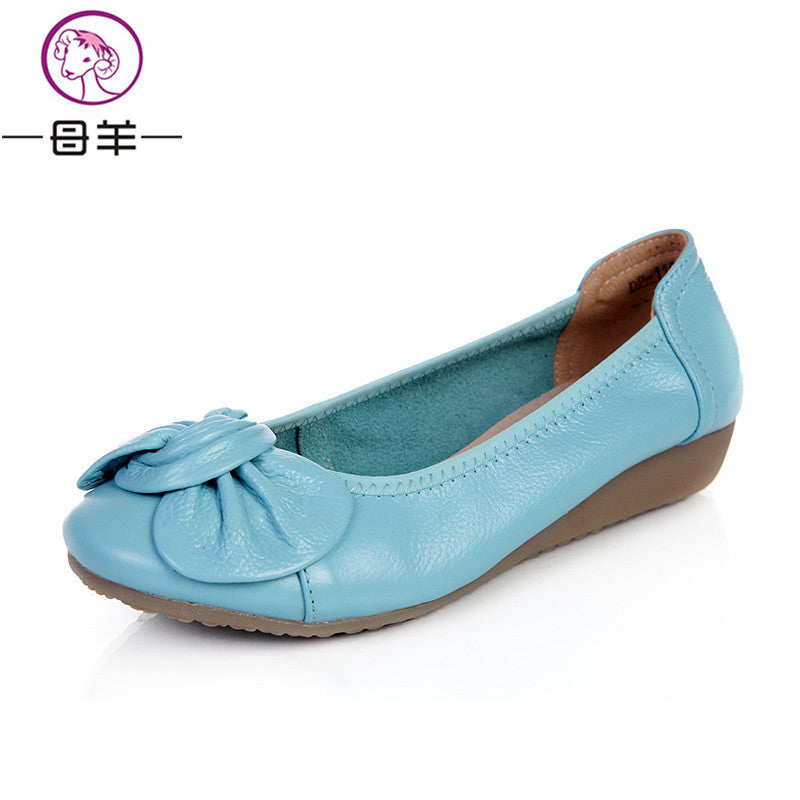 9 Colors Plus Size(34-43) Women Shoes 2017 Loafers Women Genuine