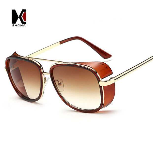 SHAUNA Cheaper Iron Man 3 Matsuda Sunglasses Men Square Sun Glasses