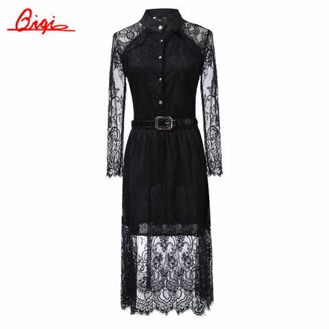 S-5XL sale Summer Dresses Hollow Out Women Half Sleeve Elastic Waist Floral Crochet Casual black Lace Dress Femininas Vestidos - Monika's Dresses