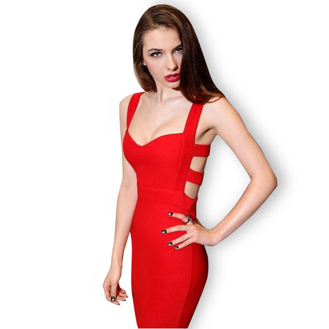Hot Sales 2016 Summer New Sexy Women Bodycon Bandage Dress Vintage Party Evening Club Girl Clothes Vestidos de festa Sheath - Monika's Dresses