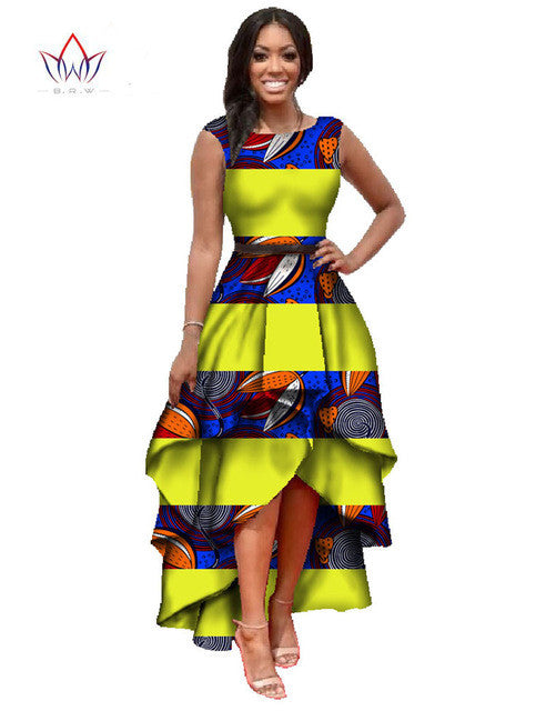 african clothes for women  o-neck african embroidery bazin dress Dashiki women dress cotton african print dress big size WY447 - Monika's Dresses