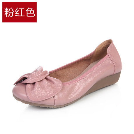 9 Colors Plus Size(34-43) Women Genuine Leather Flat Shoes Woman