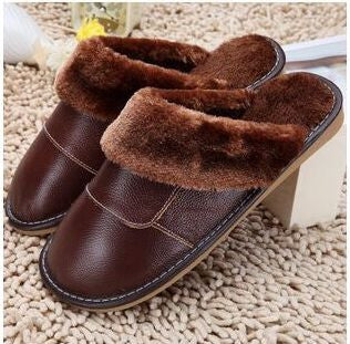 6 Colors 2015 New Genuine Leather Home Slippers  High Quality Women