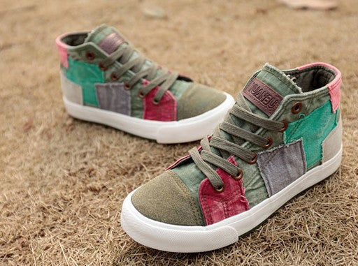 All match Women shoes high canvas shoes women fashion casual shoes for