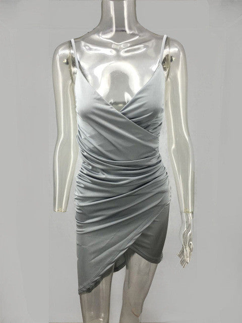 2017 Summer Pink Gray Dress Sleeveless Sexy Office Short Dress Slim Party Dresses Vestido De Festa Plus Size Vintage Vestidos - Monika's Dresses