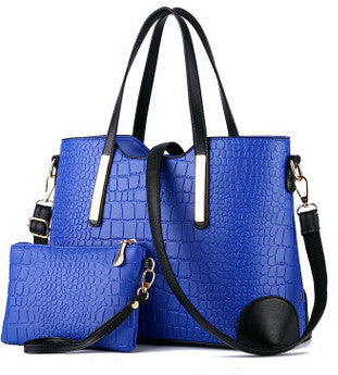 2017 women handbag leather hand bag michael crocodile crossbody bag