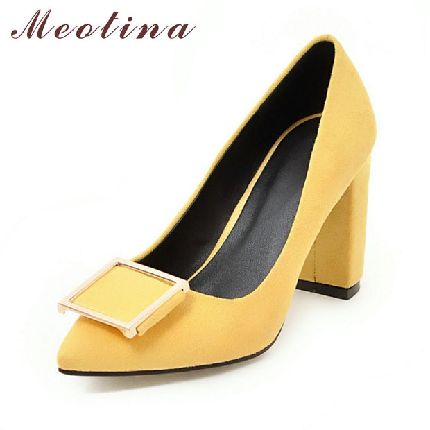 Meotina High Heels Shoes Women Pumps Party Shoes Fashion Thick High