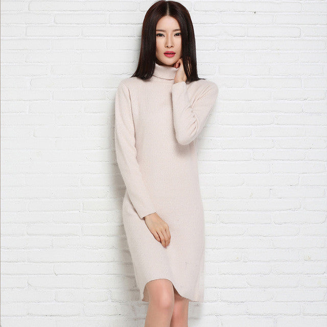 adohon 2016 womens winter Cashmere sweaters and auntmun women knitted Pullovers High Quality Warm Female thickening Turtleneck - Monika's Dresses