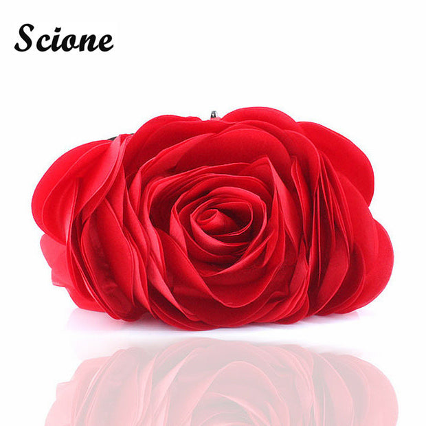 Fashion Flower Clutch Bag Women Wedding Handbag Bridal Clutch Purse