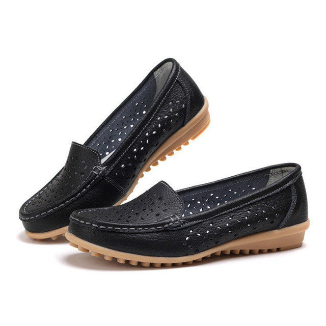 2017 Women Loafers Lady Ballerina Flat Shoes Woman Summer Flats Hollow