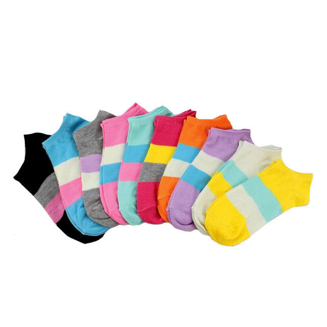 6Pair New Brand Female Lady Socks Women's Socks Short Cute Cotton