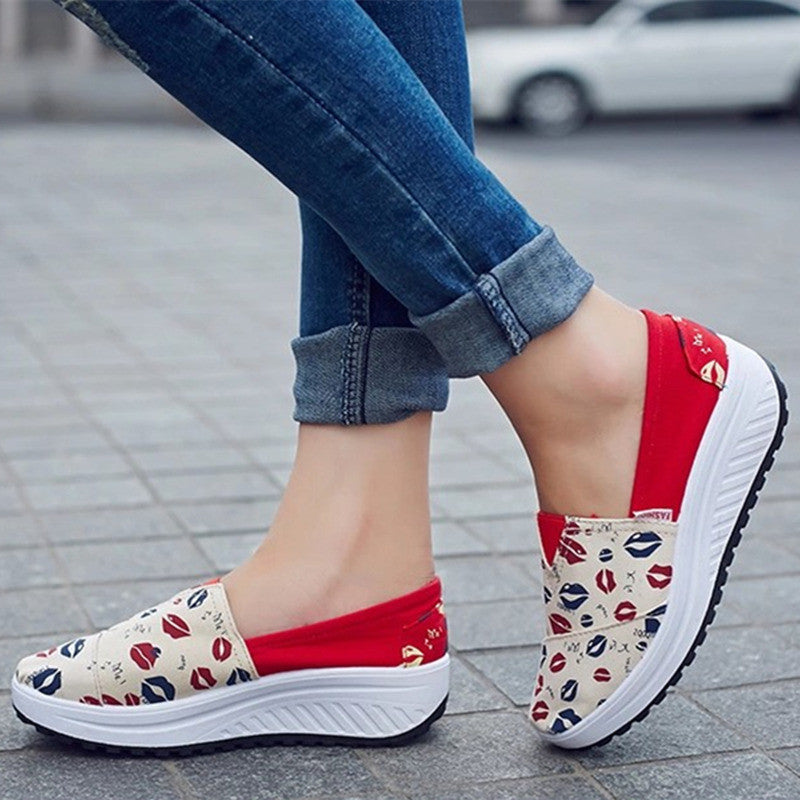 2017 Summer shoes new canvas flats women lazy thick crust  shoes