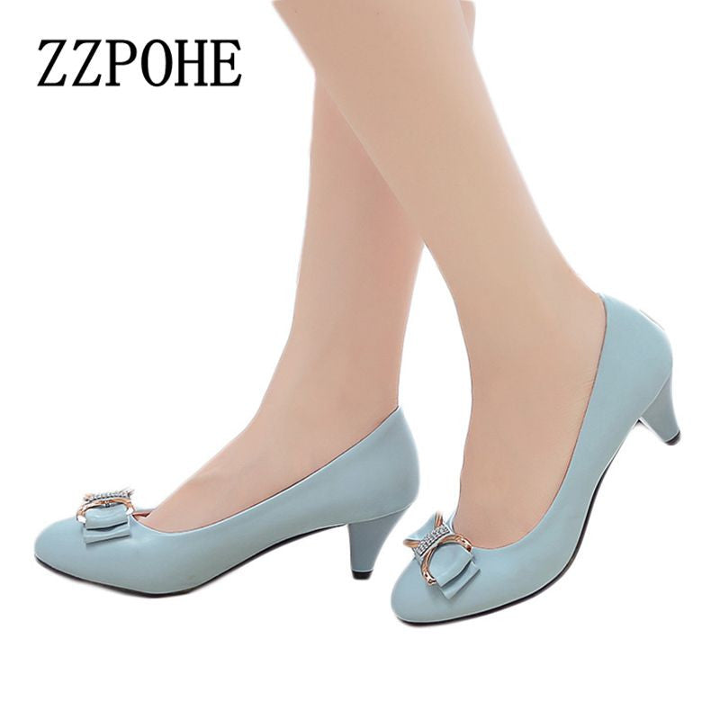 2017 spring and autumn new mother fashion shoes bow sexy high heels