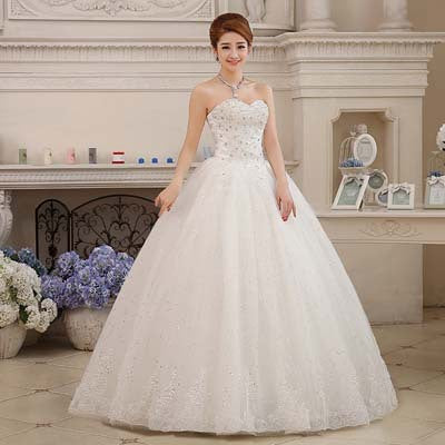 Fansmile Real Photo Sexy Lace Wedding Dress 2016 Vintage Belt Plus