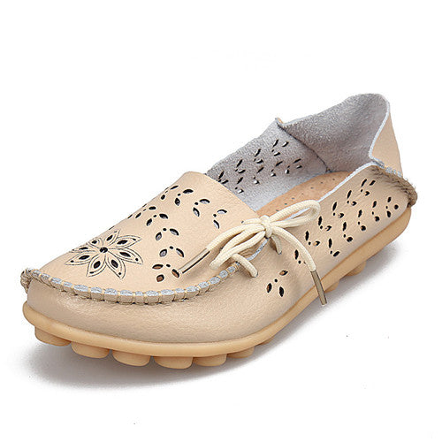 2017 Women Flats Cut-outs Comfortable Women Casual Shoes Round Toe