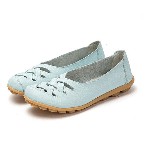 2017 Spring Cut-outs Leisure Flat Shoes Fashion PU Leather