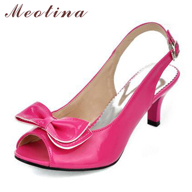 Meotina Women Sandals Summer Shoes Woman Sandals Peep Toe High Heels